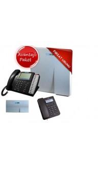 KAREL MS38C SANTRAL+EVM+OP50 KONSOL+6 ADET KAREL TM145 TELEFON