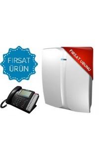 KAREL MS48IP SANTRAL 4 HARİCİ,12 DAHİLİ TELEFON SANTRALİ